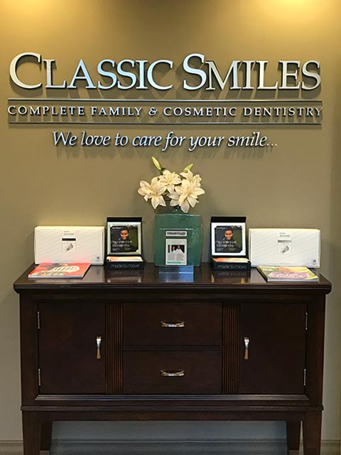 Office sign at Classic Smiles